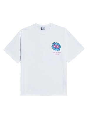 ADLV DONUT FLOWER GRAFFITI SHORT SLEEVE T-SHIRT WHITE