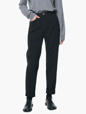 LW056 MODERN CROP COTTON PANTS_BLACK