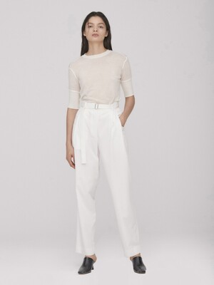 Belted Relax Pants_White(Tencel)