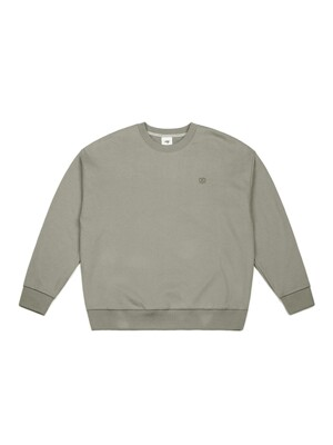 LOVING LOGO SWEATSHIRT (BEIGE GRAY)