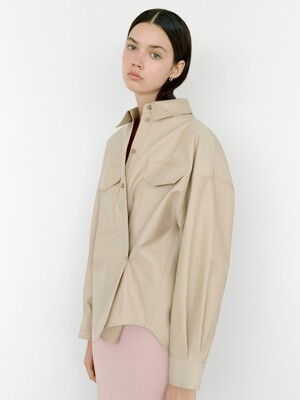 Jacket like Shirt in Beige