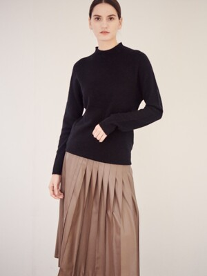 WHOLEGARMENT CASHMERE BLENDED SWEATER_BLACK