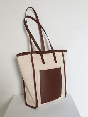 Daily  Shopper Bag  /  Leather & Canvas