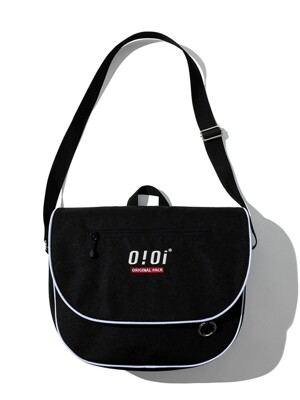 [ORIGINAL PACK] PIPING MESSENGER BAG [BLACK]