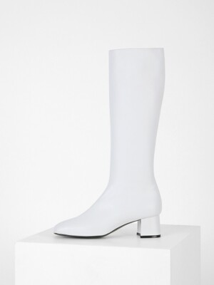 SQUARE LONG BOOTS - WHITE