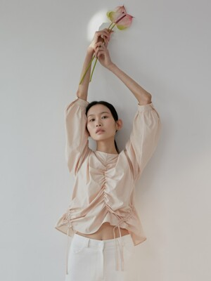 19S STRING BLOUSE (PEACH)