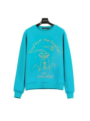 SPACE SWEATSHIRT (BLUE GREEN) L