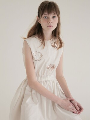 SHINE FLOWER DRESS_WHITE