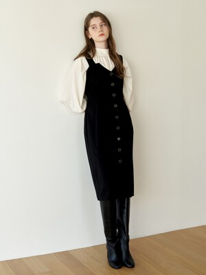 Jewelry Button Dress_Black