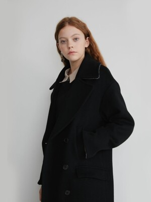 19' FALL_Black Cashmere-Blend Coat