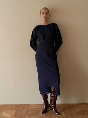 Reversible dress - navy