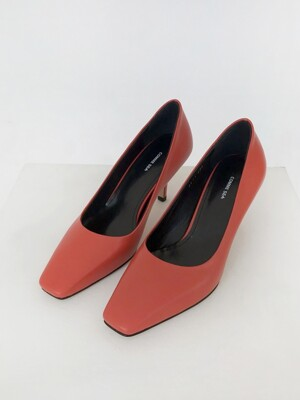 CLASSIC SQUARE TOE PUMPS-브릭레드