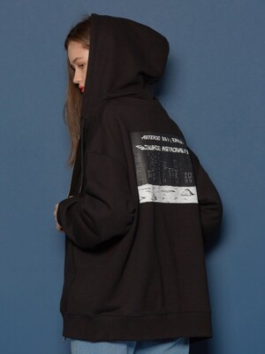 Night scene Hood Zip-up (BLACK)