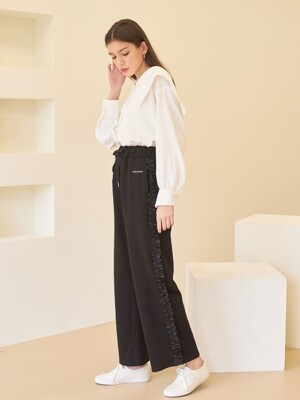 FRILL TRAINING PANTS BLACK