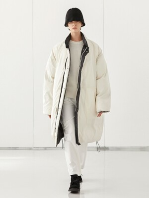 RIVERSIBLE DUCK DOWN PARKA_BLACK & CREAM