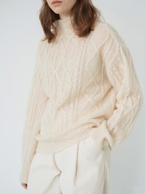 mohair twist knit (ivory)