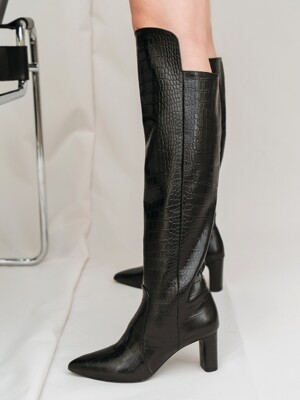 [EXCLUSIVE] CROC LONG BOOTS D9F15BK