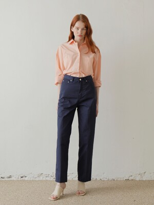 20SS COTTON WIDE PANTS / NAVY