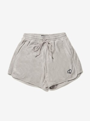TOWEL SWEAT SHORTS - NATURAL GREY