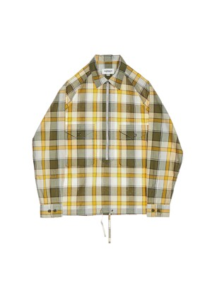 SCOUT PULLOVER SHIRT / YELLOW & GREEN CHECK