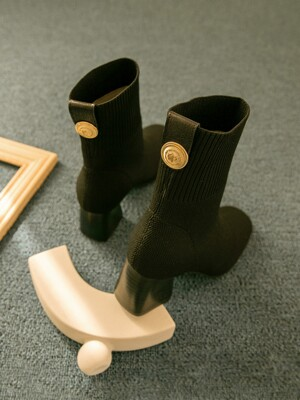 Jerome socks boots_black