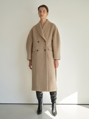 TTW SHAWL COLLAR WOOL COAT 2COLOR