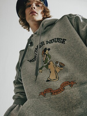 MORTIMER MOUSE GREY HOODIE