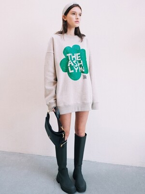 LILY FLOWER OVERSIZED SWEATSHIRT_OATMEAL