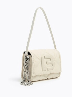 S ivory padded nylon flap bag_B215AIB002IV