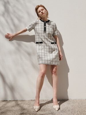 [Tweed] Summer Tweed Tunic Dress