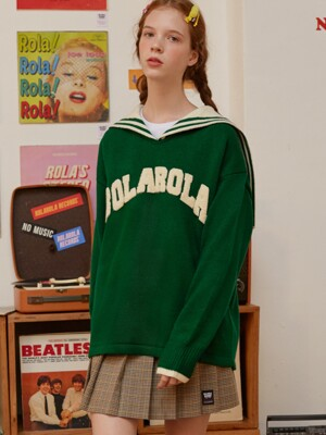 (TS-18711) ROLA SAILOR KNIT PULLOVER GREEN