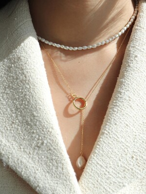 Pearl round necklace