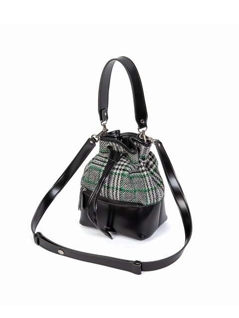 GEO BUCKET BAG_ BLACK