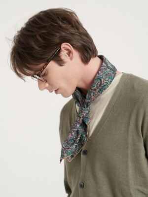 Festival paisley cotton scarf 3color