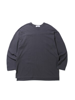 19SS OVERFIT LONG SLEEVE TEE (CHARCOAL)
