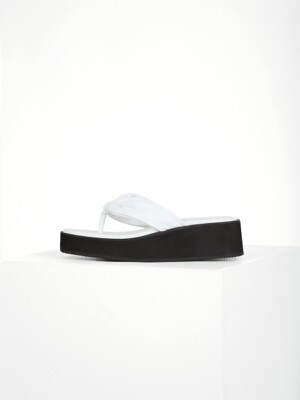 SHIRRING FLIP-FLOP - WHITE