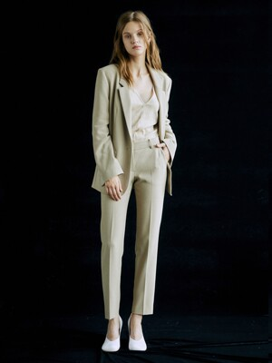 [Drama Signature] Blazer + Straight Trousers SET (D.BEIGE)