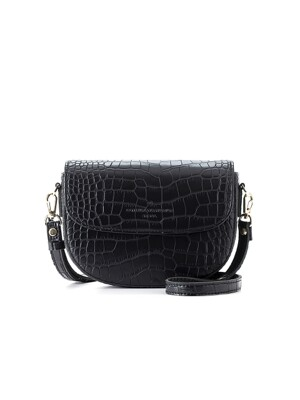 half-moon cross bag (crocoblack) - D1017CBK