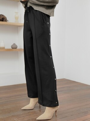 SIDE SNAP PANTS_BLACK