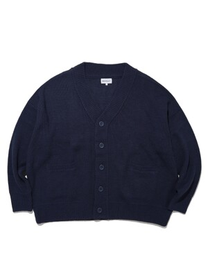 BASIC OVERSIZED CARDIGAN(NAVY)