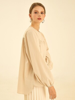 Plain ballon blouse[beige]