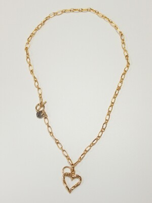 True love twoway necklace (Gold)