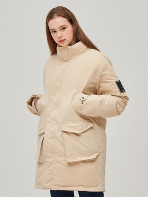 A PATCH DAILY FIELD PARKA (IVORY)