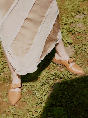 RIBBON TIED MULES_COCONUT