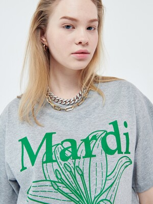 FLOWER MARDI TEE GREY