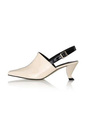 Juno Slingbacks / 21RS-S462 / Cream Ck+Black Ck