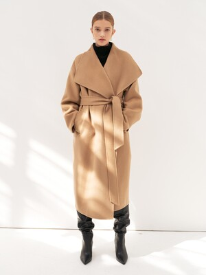 CASHMERE WIDE COLLAR COAT [HAND MADE] 2COLOR