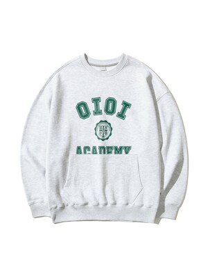 POCKET VARSITY SWEATSHIRTS [LIGHT GREY]