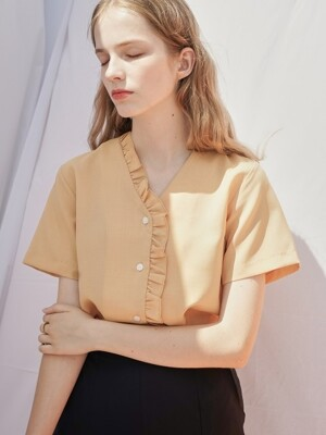 FRILL BLOUSE YELLOW