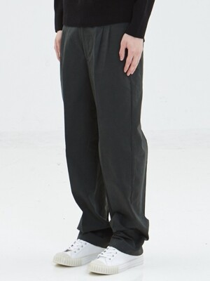 2 tuck wide pants_KHAKI